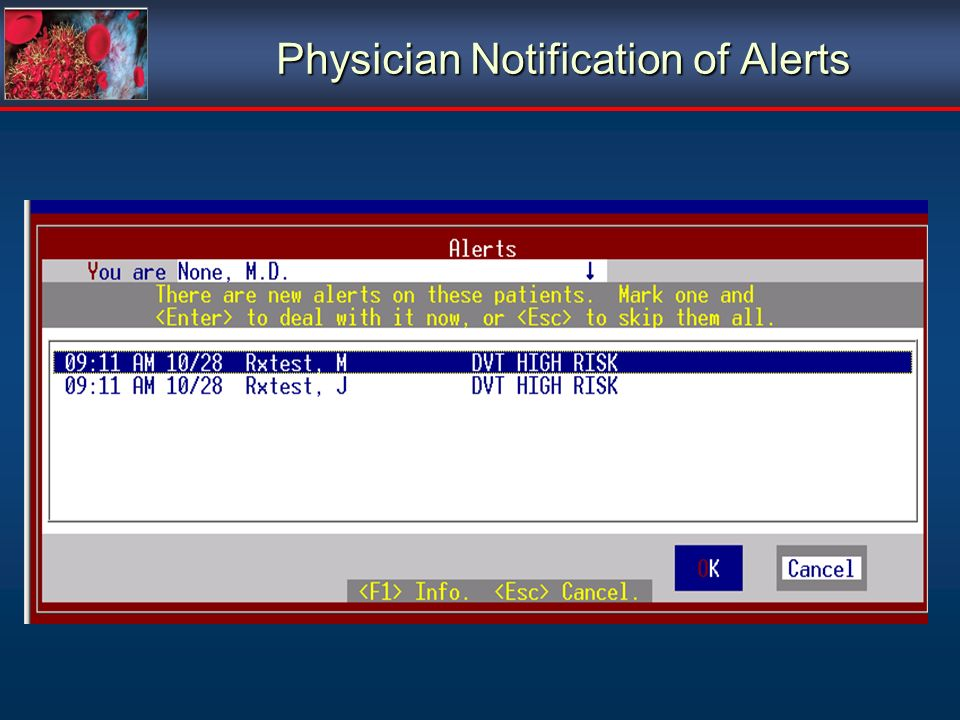 Physician Notification of Alerts