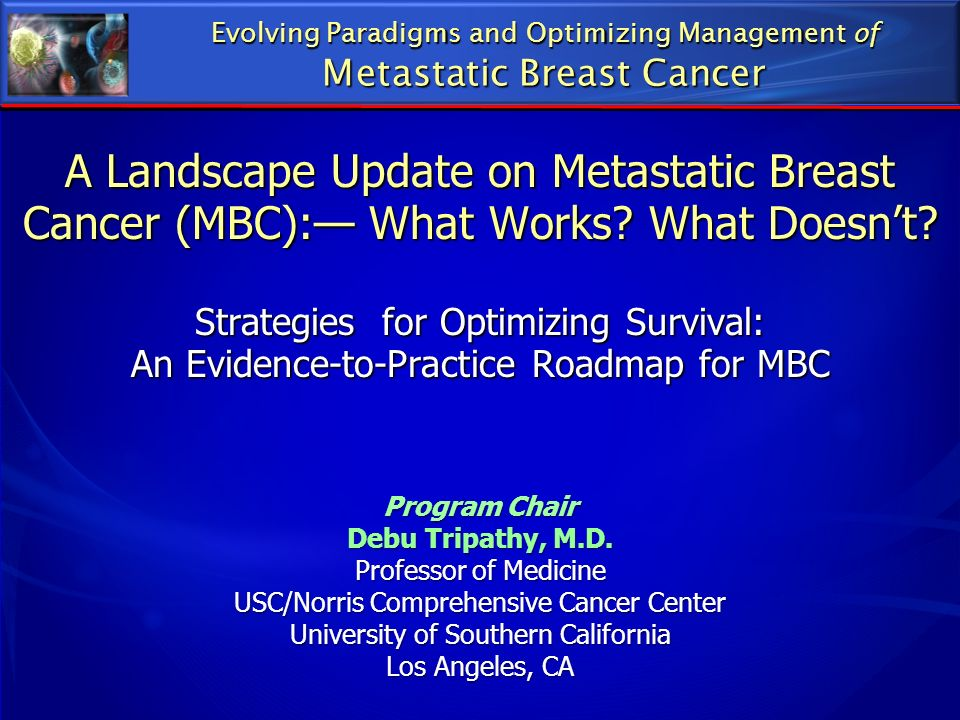 A Landscape Update on Metastatic Breast Cancer (MBC): What Works? What Doesnt? Strategies for Optimizing Survival: An Evidence-to-Practice Roadmap for
