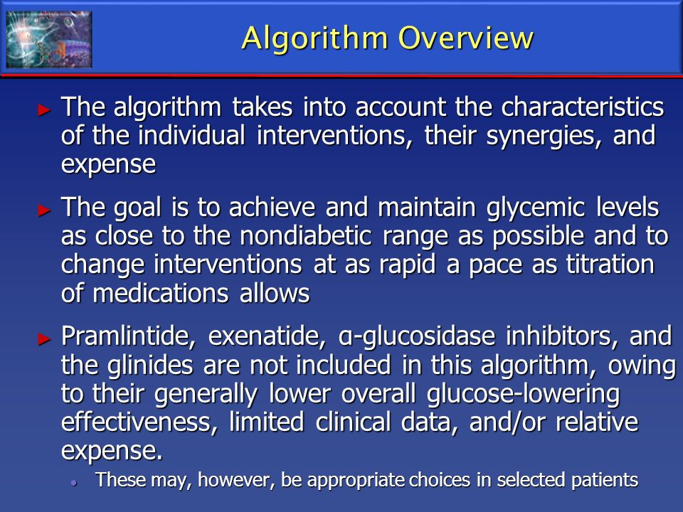 Algorithm Overview The algorithm takes into account the characteristics of the individual interventions, their synergies, and expense The algorithm ta
