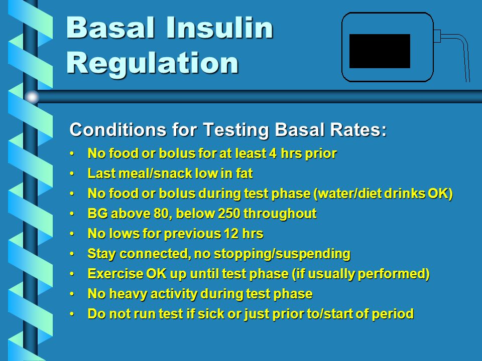 Temporary Basal Rates Extended InactivityExtended InactivityDurationAdjustmentNotes Varies (>3 hrs) +40% Great for long trips!