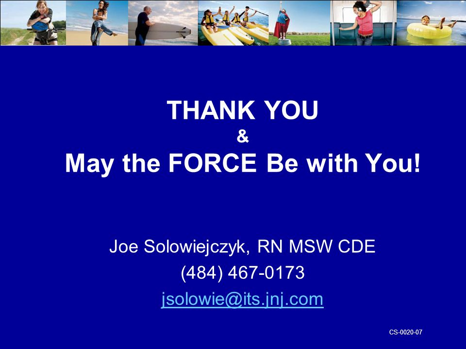 CS-0020-07 THANK YOU & May the FORCE Be with You.