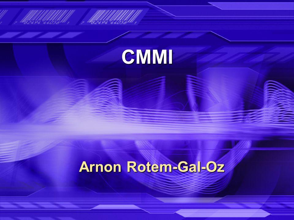 CMMI Arnon Rotem-Gal-Oz