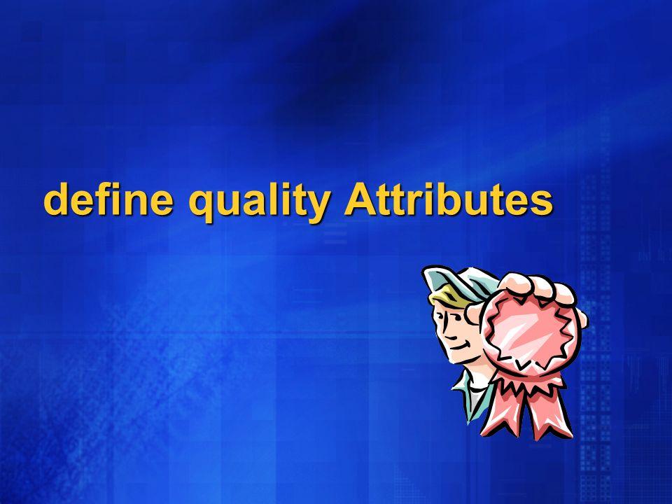 define quality Attributes