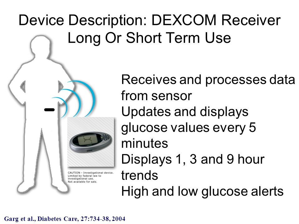 Receives and processes data from sensor Updates and displays glucose values every 5 minutes Displays 1, 3 and 9 hour trends High and low glucose alert