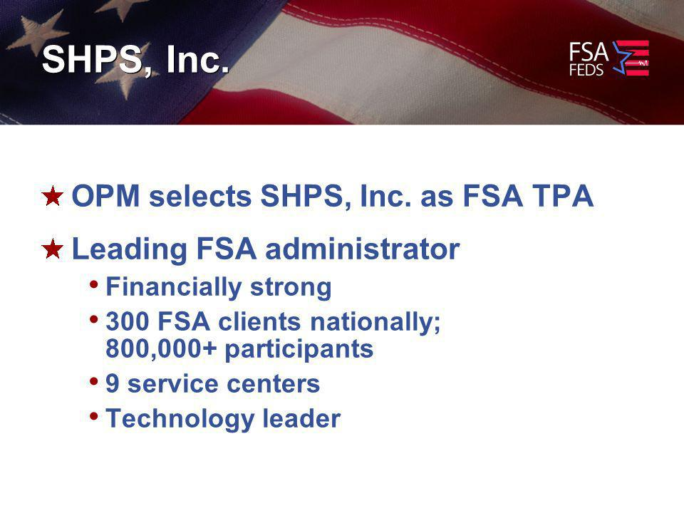 SHPS, Inc. OPM selects SHPS, Inc.