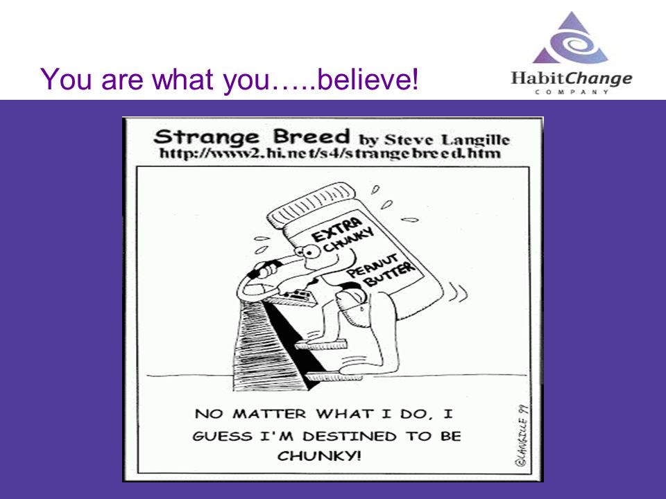 You are what you…..believe!