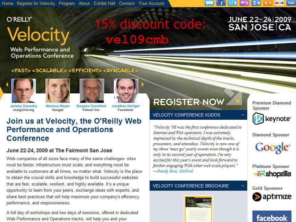 15% discount code: vel09cmb