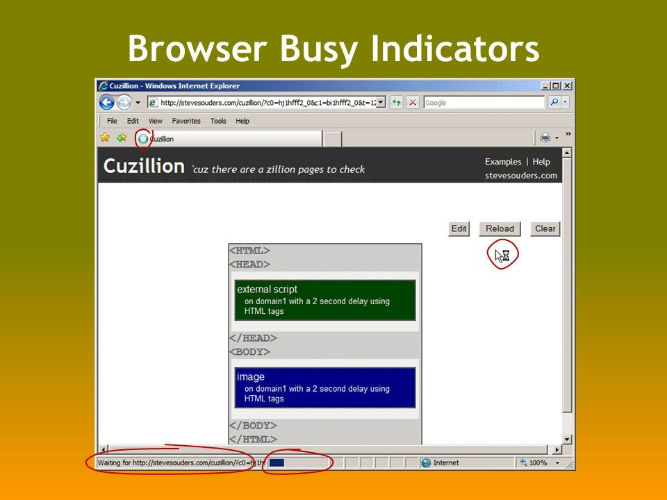 Browser Busy Indicators