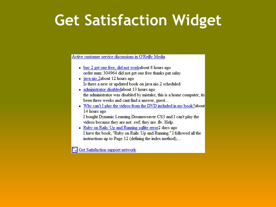 Get Satisfaction Widget