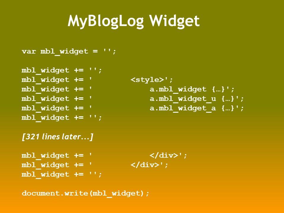 var mbl_widget = ; mbl_widget += ; mbl_widget += a.mbl_widget {…} ; mbl_widget += a.mbl_widget_u {…} ; mbl_widget += a.mbl_widget_a {…} ; mbl_widget += ; [321 lines later...] mbl_widget += ; document.write(mbl_widget);