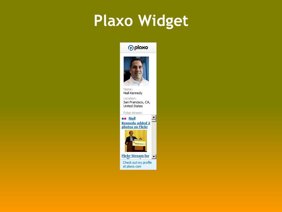 Plaxo Widget