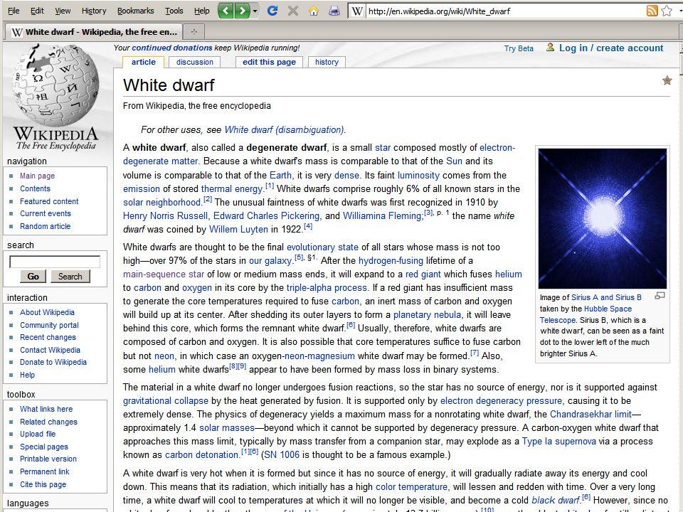 White Dwarf http://en.wikipedia.org/wiki/White_dwarf