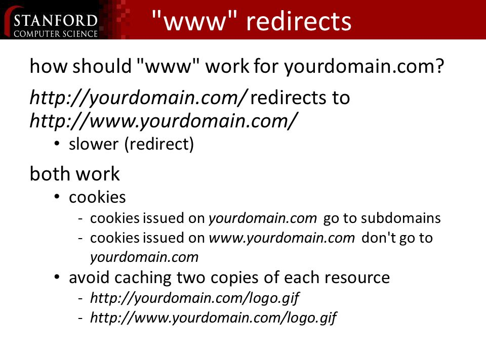 www redirects how should www work for yourdomain.com.