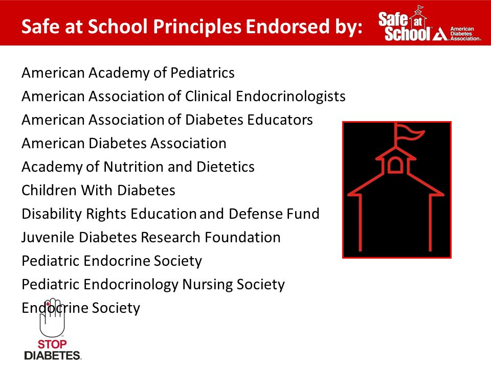 American Academy of Pediatrics American Association of Clinical Endocrinologists American Association of Diabetes Educators American Diabetes Associat