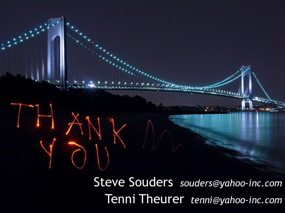 Steve Souders souders@yahoo-inc.com Tenni Theurer tenni@yahoo-inc.com