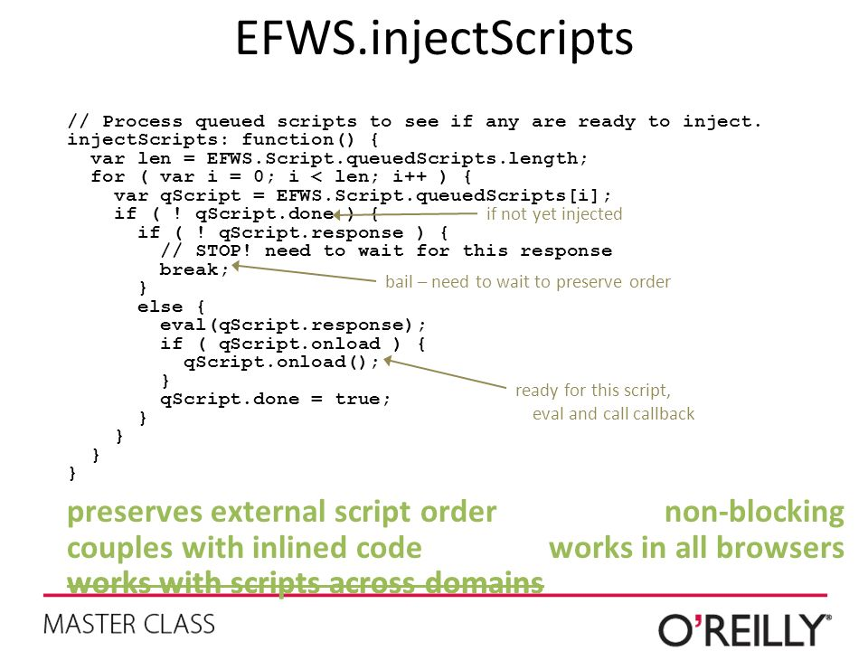EFWS.injectScripts // Process queued scripts to see if any are ready to inject. injectScripts: function() { var len = EFWS.Script.queuedScripts.length