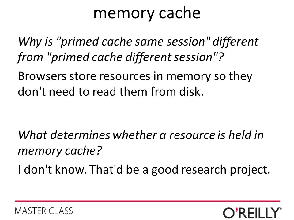 memory cache Why is