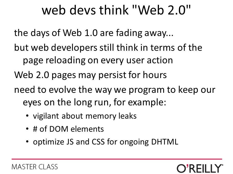 web devs think