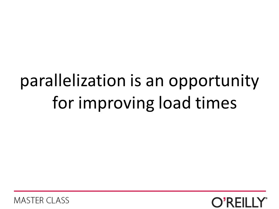 parallelization is an opportunity for improving load times