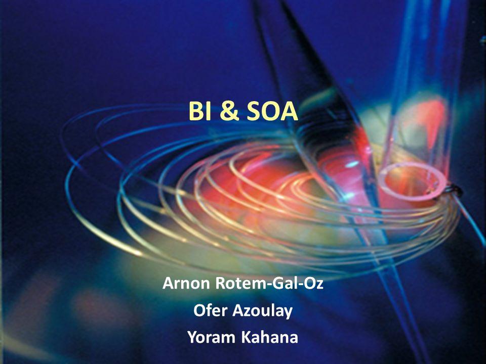 BI & SOA Arnon Rotem-Gal-Oz Ofer Azoulay Yoram Kahana