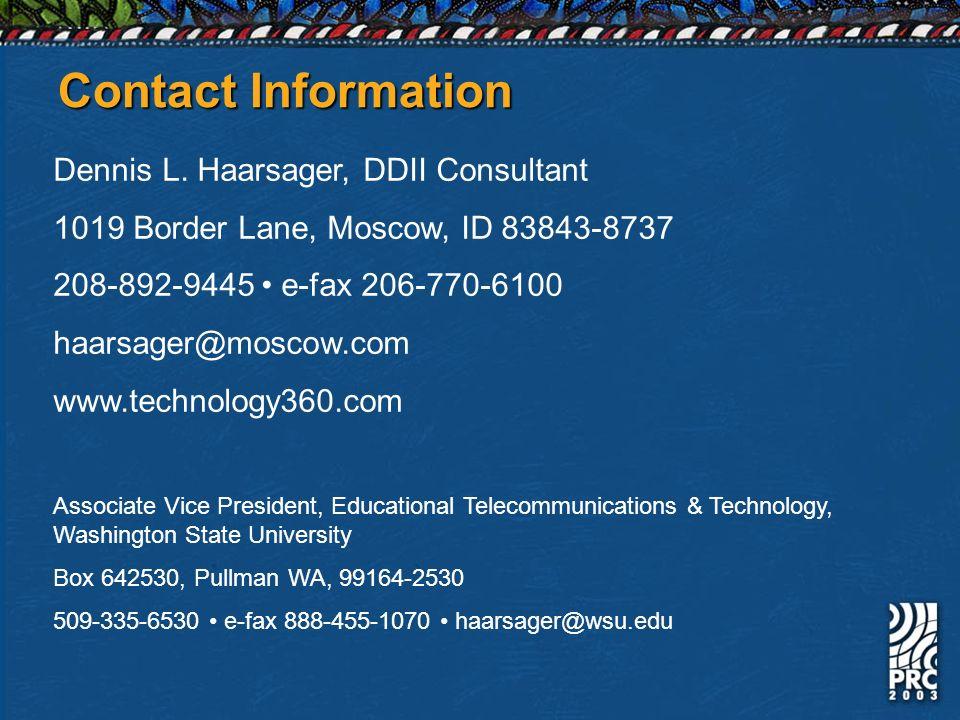 Contact Information Dennis L.