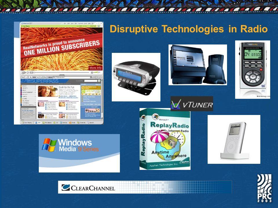 Disruptive Technologies in Radio