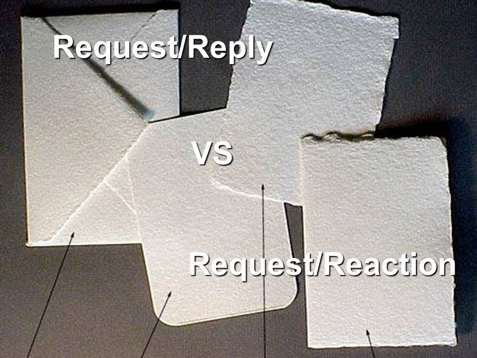 Request/Reply Request/Reaction VS