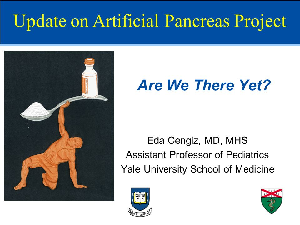 Are We There Yet? Eda Cengiz, MD, MHS Assistant Professor of Pediatrics Yale University School of Medicine Update on Artificial Pancreas Project