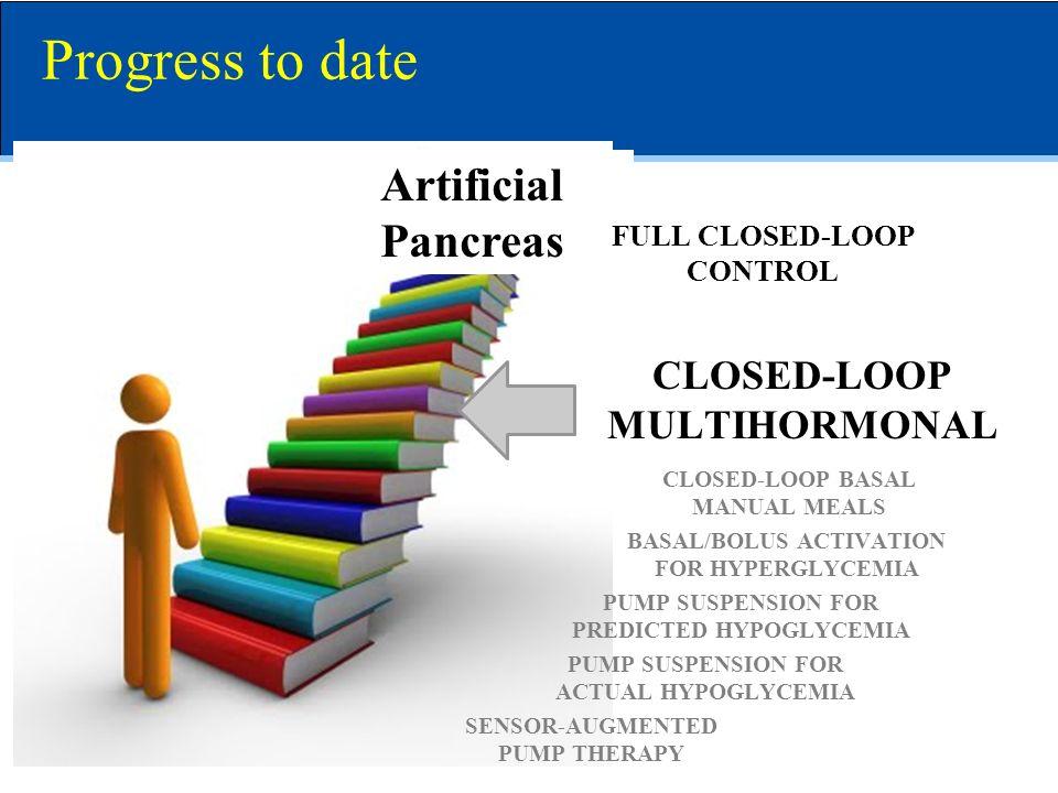 Artificial Pancreas Progress to date SENSOR-AUGMENTED PUMP THERAPY PUMP SUSPENSION FOR ACTUAL HYPOGLYCEMIA PUMP SUSPENSION FOR PREDICTED HYPOGLYCEMIA