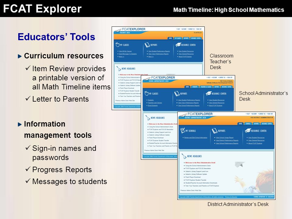 FCAT Explorer Educators Tools Classroom Teachers Desk District Administrators Desk School Administrators Desk Curriculum resources Item Review provide