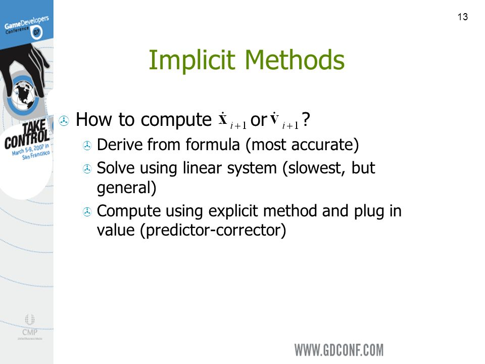 13 Implicit Methods How to compute or .