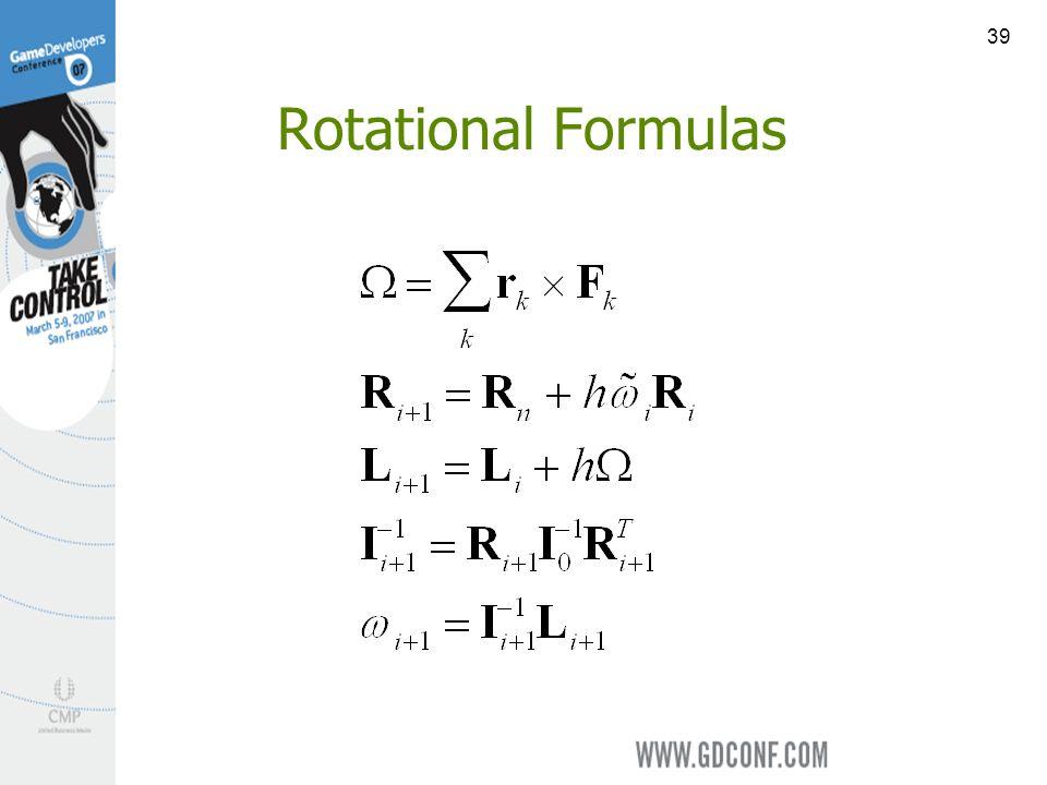 39 Rotational Formulas