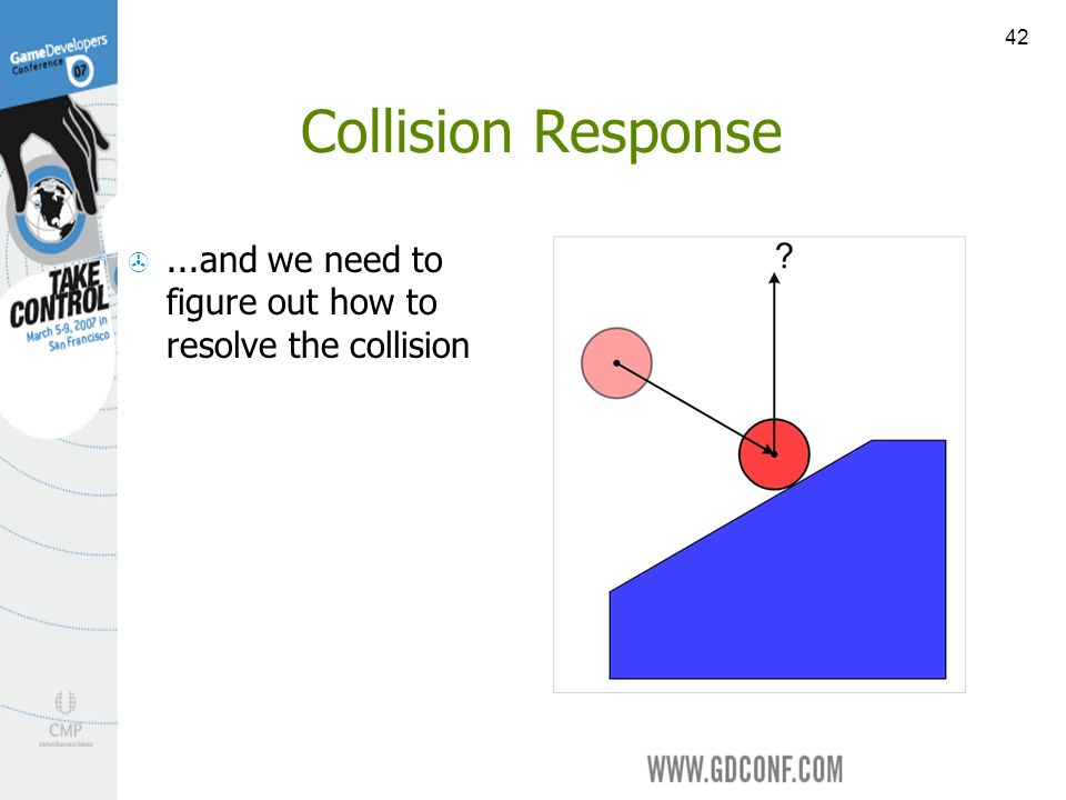42 Collision Response...and we need to figure out how to resolve the collision