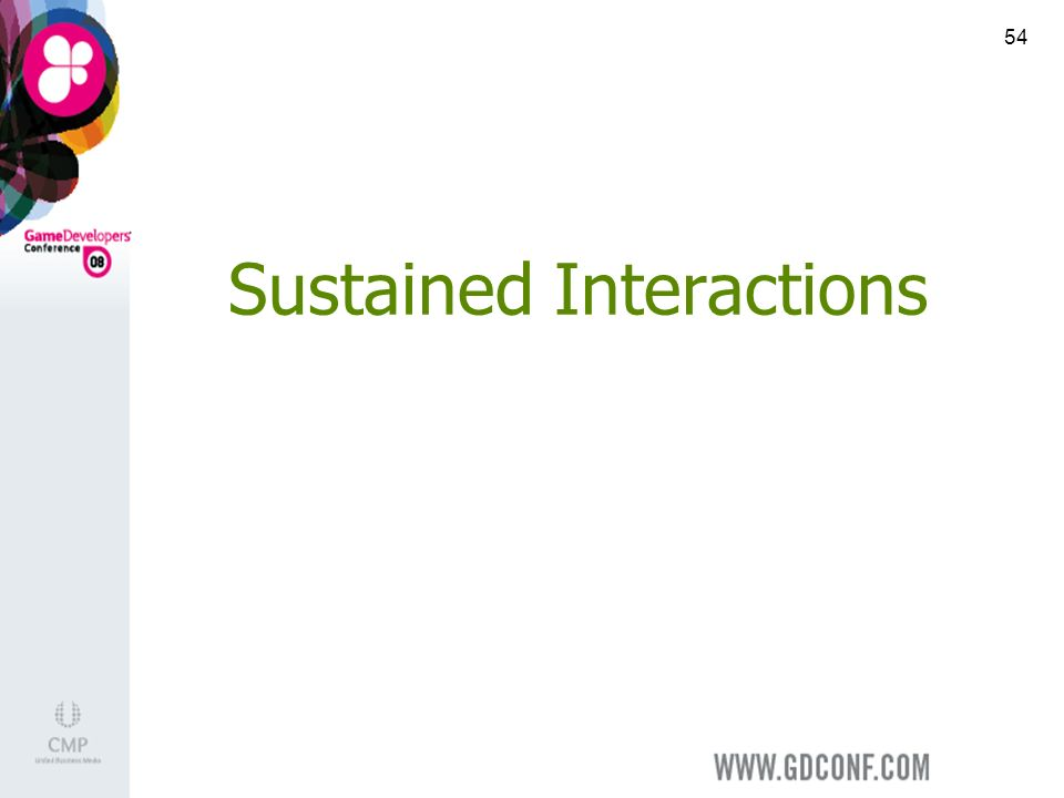 54 Sustained Interactions