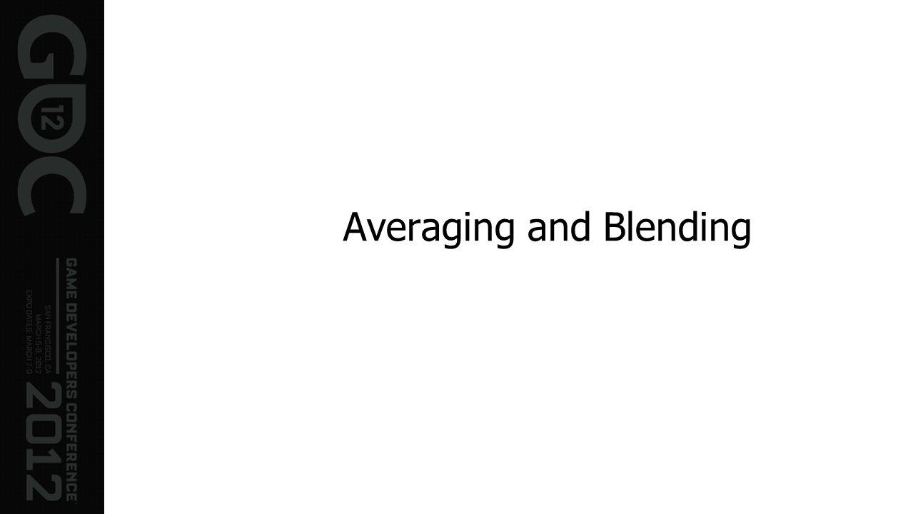 Averaging and Blending