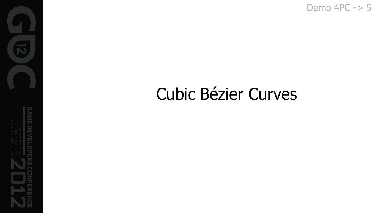 Cubic Bézier Curves Demo 4PC -> 5