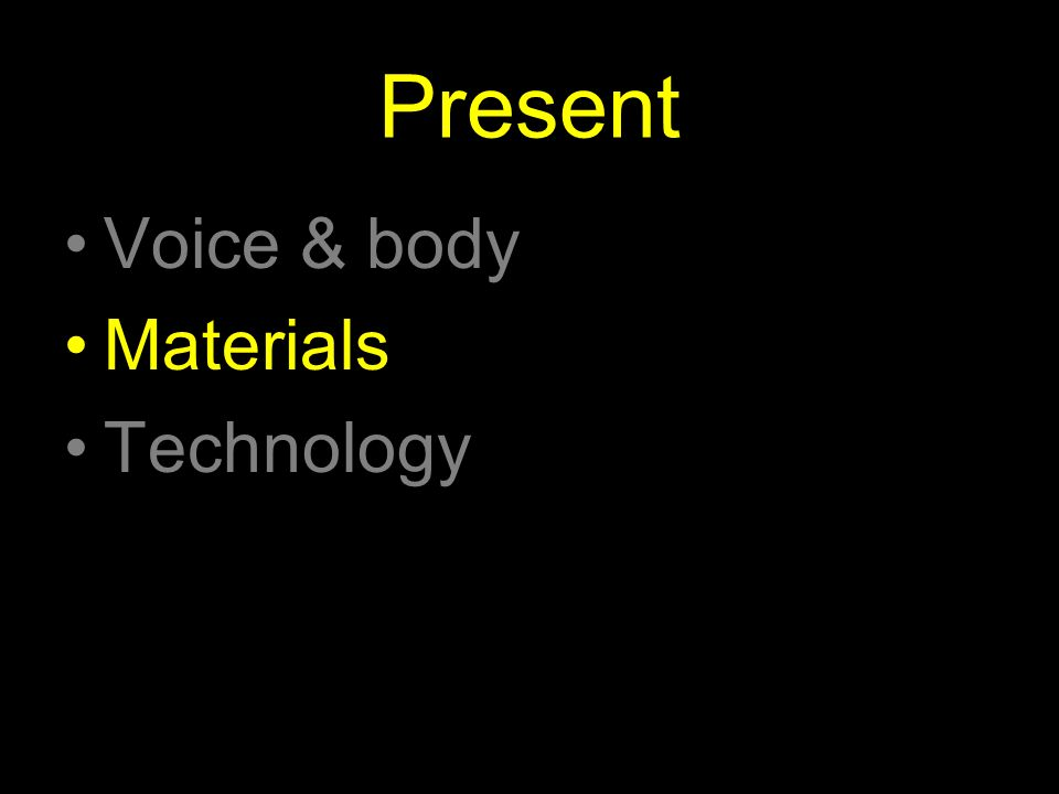 Present Voice & body Materials Technology