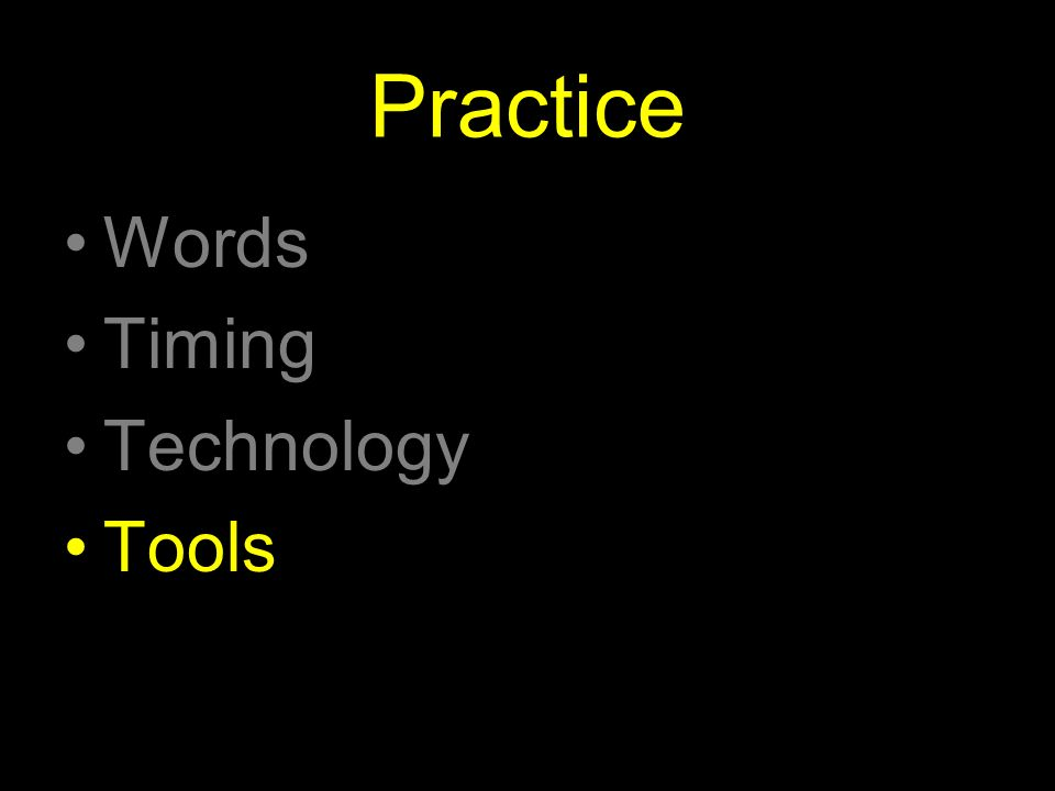 Practice Words Timing Technology Tools