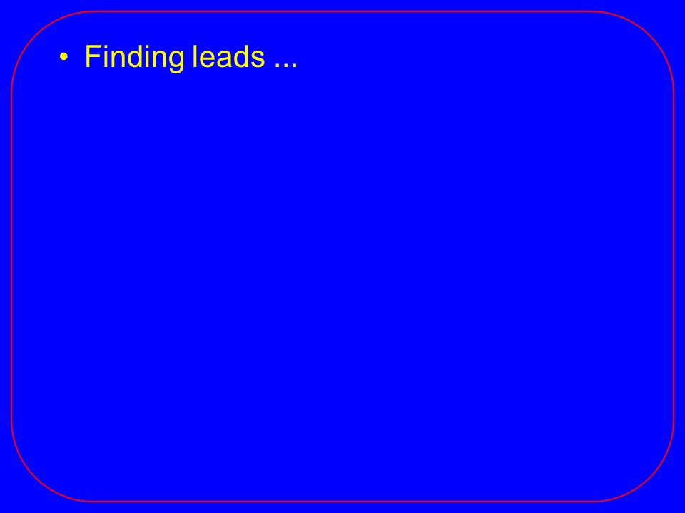 Finding leads...
