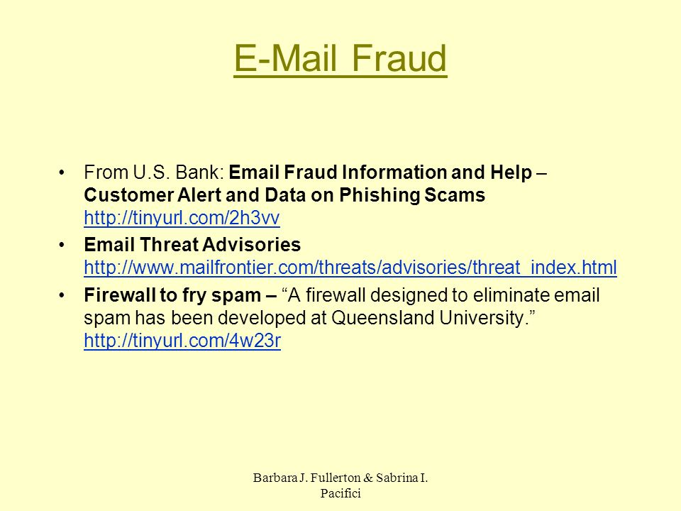 E-Mail Fraud From U.S.