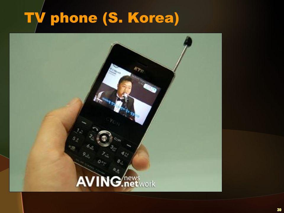 30 TV phone (S. Korea)