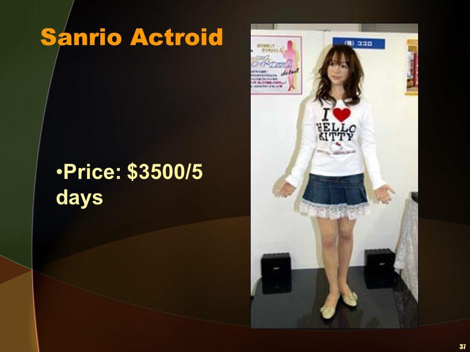37 Sanrio Actroid Price: $3500/5 days