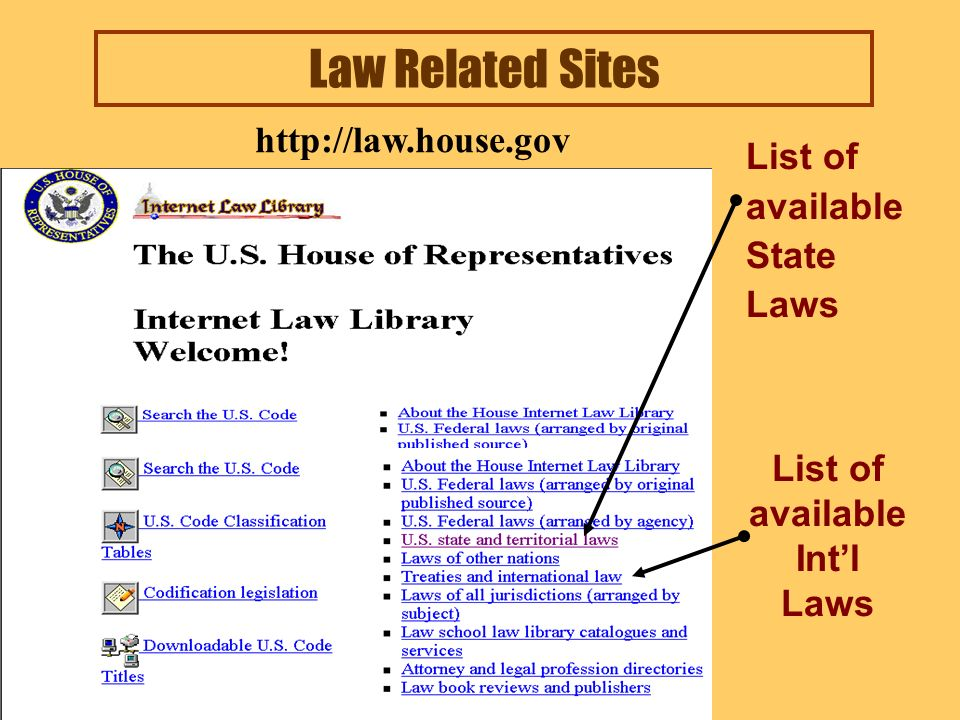 Law Related Sites Link to Supreme Court Cases from 1893 (FLITE) http://www.findlaw.com
