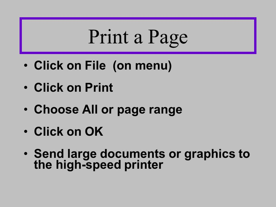 Send a Link - Click on FILE, then on SEND - Send LINK or PAGE