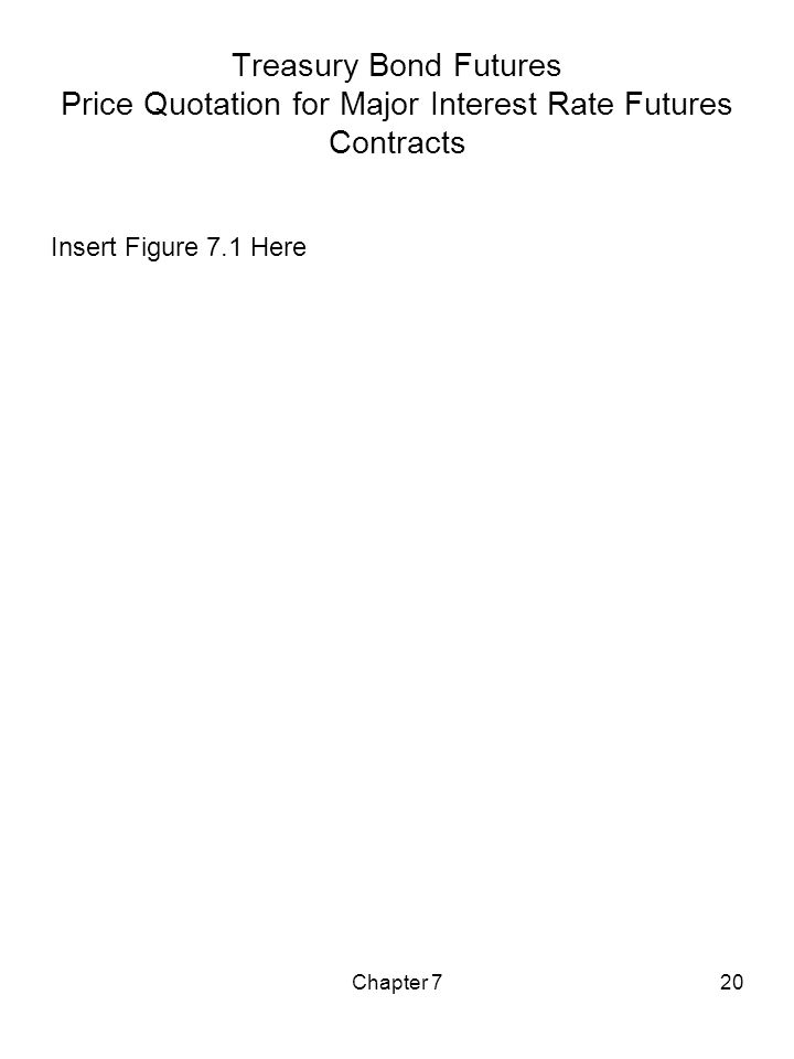 Chapter 720 Treasury Bond Futures Price Quotation for Major Interest Rate Futures Contracts Insert Figure 7.1 Here