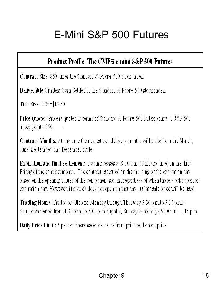 Chapter 915 E-Mini S&P 500 Futures