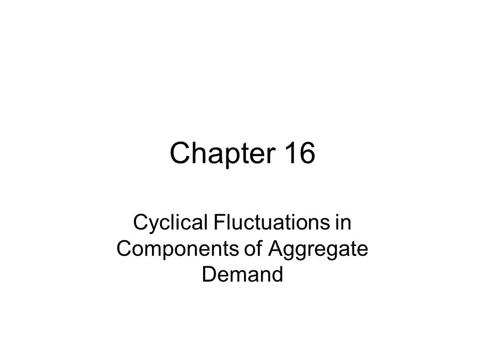 Chapter 16 Cyclical Fluctuations in Components of Aggregate Demand
