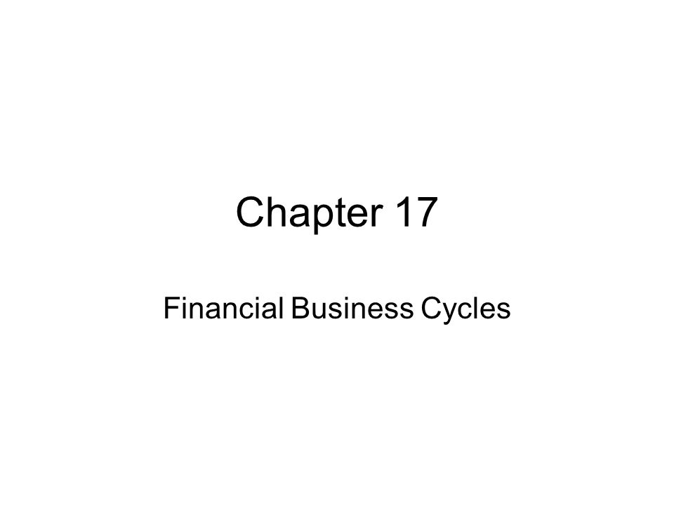 Chapter 17 Financial Business Cycles