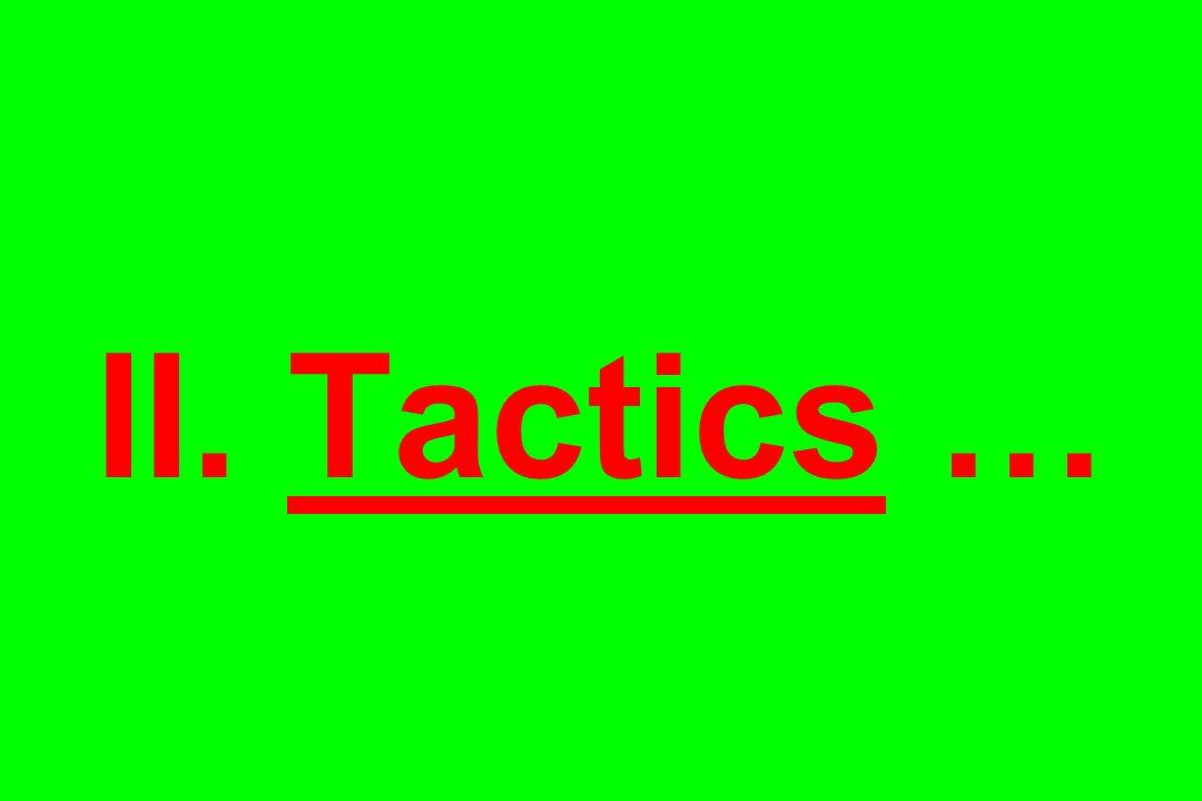 II. Tactics …