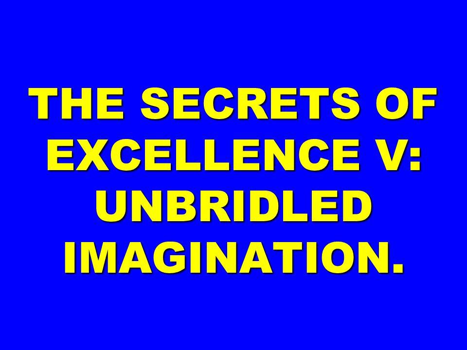 THE SECRETS OF EXCELLENCE V: UNBRIDLED IMAGINATION.